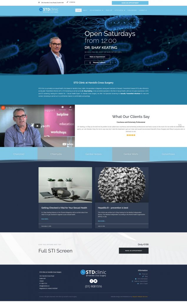 New medical website design