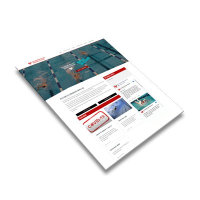 Swimming Club Website Design